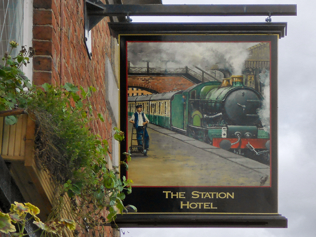 The Station Hotel Sign