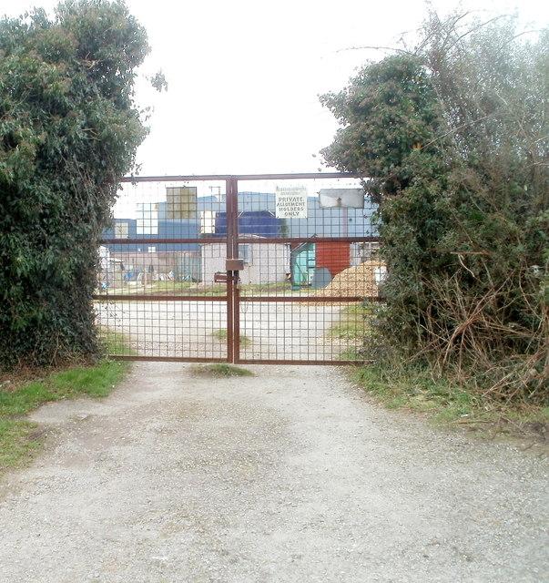Entrance gates to Bridgend Allotments, Bedwas