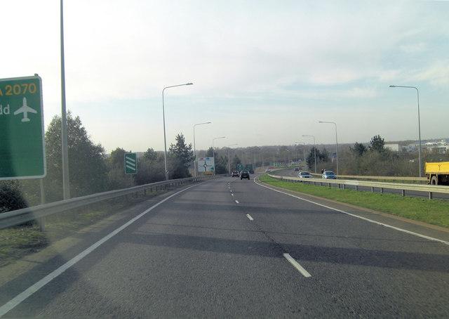 Bad Munstereifel Road  approaches South Willesborough interchange
