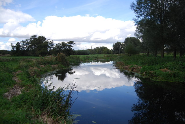 Clouds reflected in the River Gipping