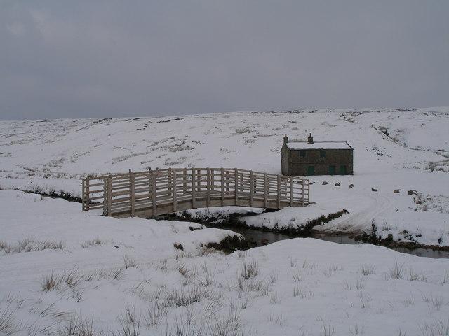 Shooting lodge and new bridge,  Mossdale