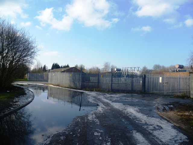 Flooded Road near the Electricity Station - Carrington