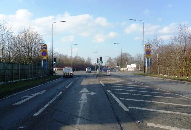 Traffic Light junction on A6144