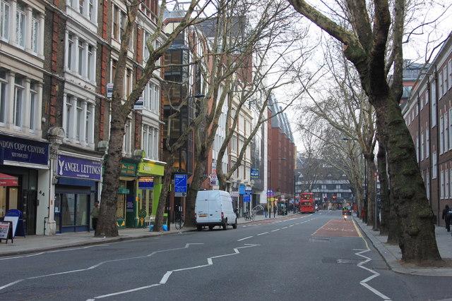 Grays Inn Lane looking south towards Holborn High Road