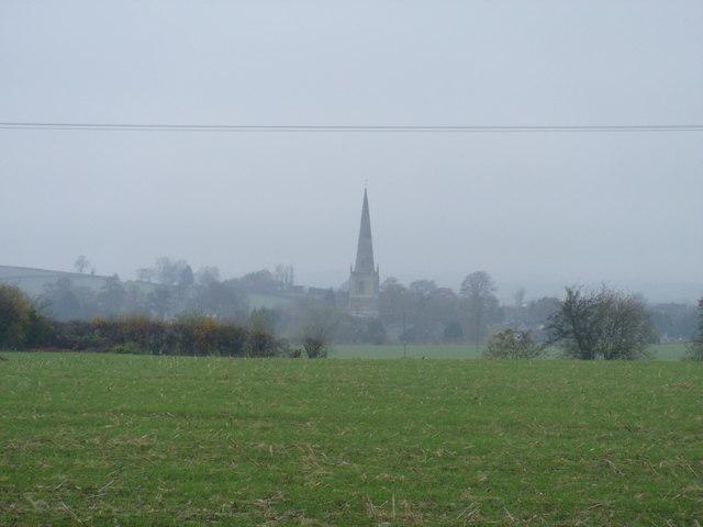 Distant spire