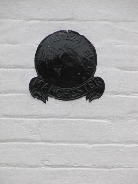 Fire mark on the cottage