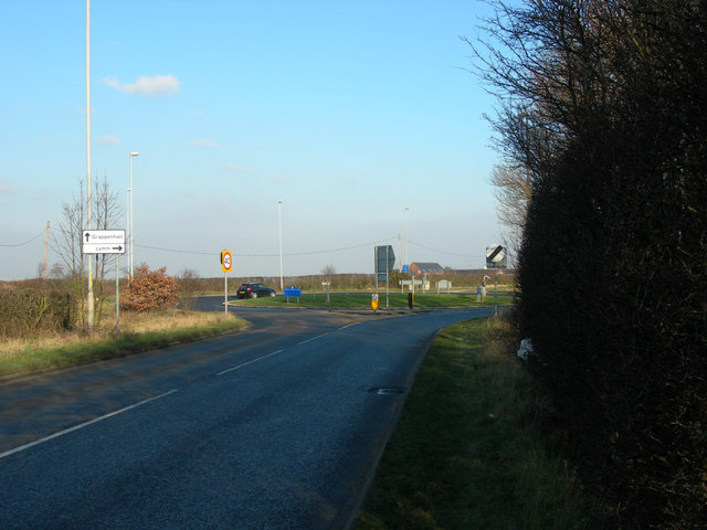Roundabout on the B5356