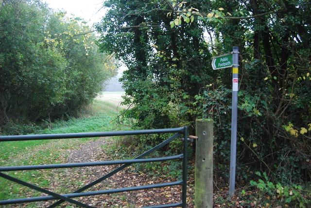 Footpath south off Busheyfields Rd