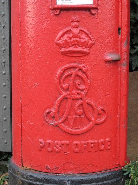Edward VII postbox, West Hendon Broadway, NW9 - royal cipher