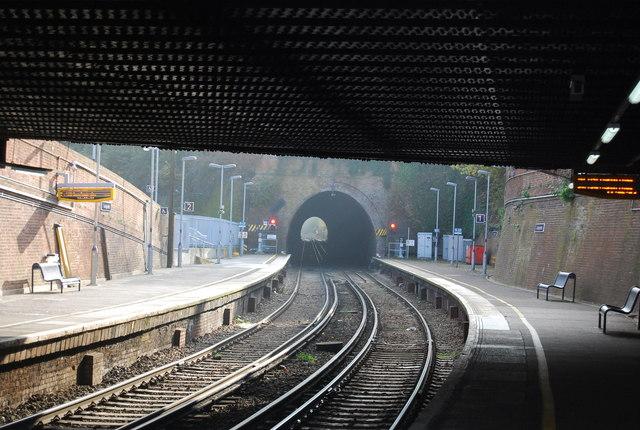 Tunbridge Wells Station and Grove Tunnel