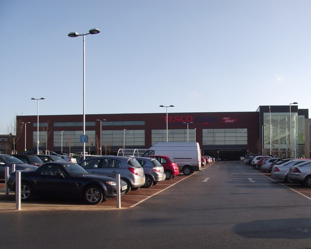 Tesco car park and store, Walkden