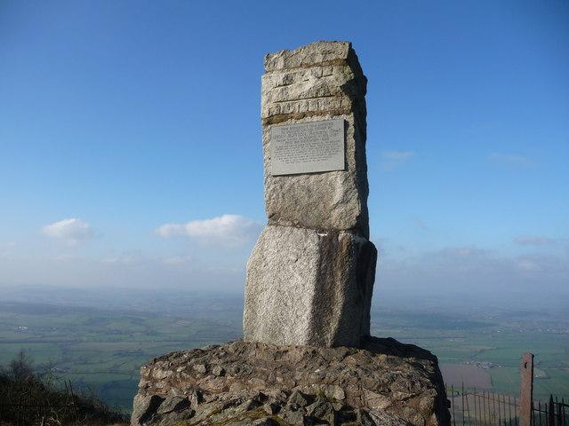 The Gypsy King monument on Moel y Golfa