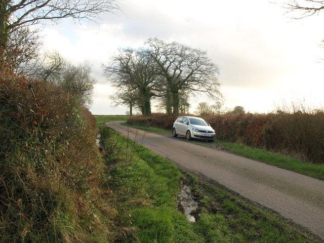 Lane south of Mattys Cross