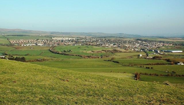 Maybole From Knockbrake Hill