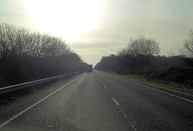 A2070 west of Brisley Farm