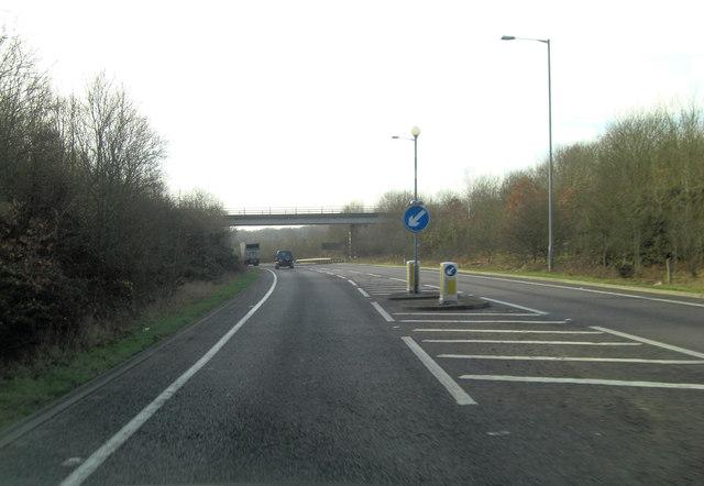 A2070 Ashford Road bridge crosses