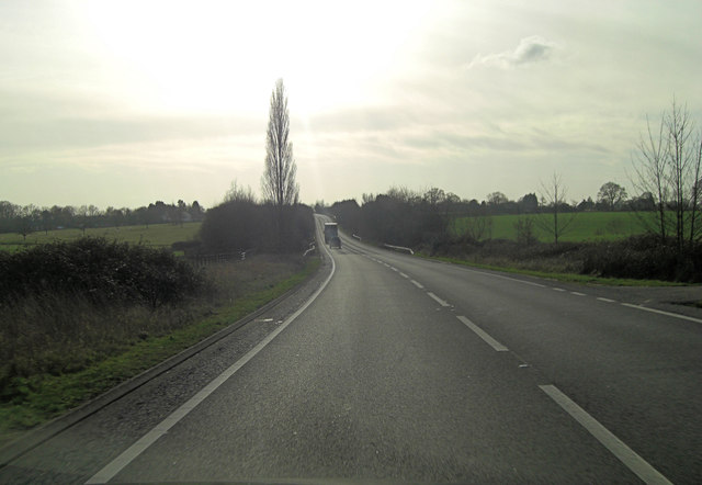 A2070 west of Hamstreet