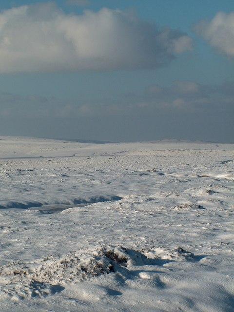 Howden Moor in wintertime