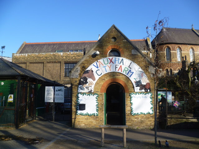 Entrance to Vauxhall City Farm