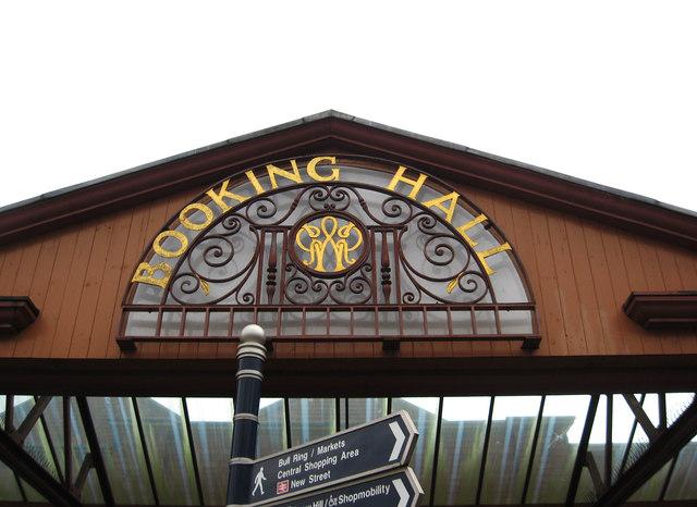 Birmingham Moor Street Station - booking hall sign