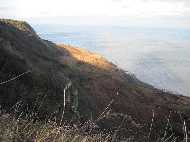 Looking  down  Beast  Cliff