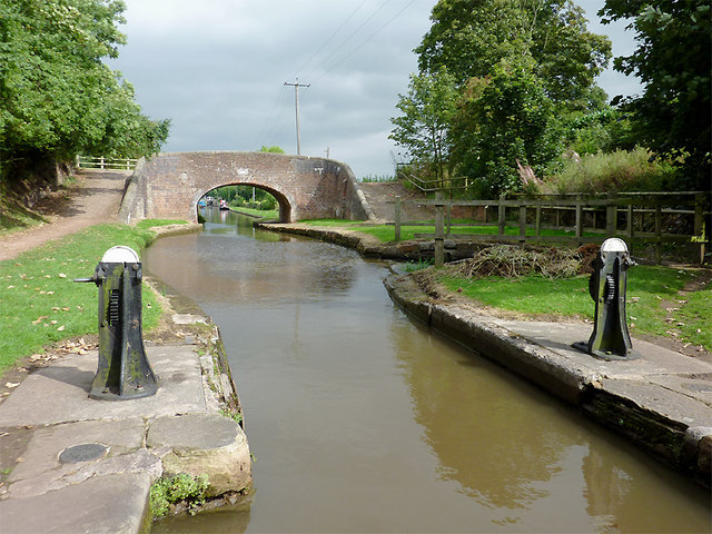 Canal above Lock No 32 at Meaford, Staffordshire