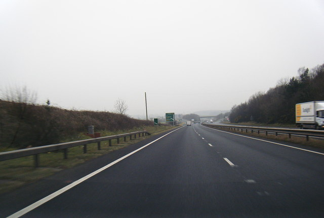 A55 westbound nears junction 31