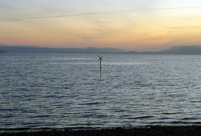 Marine marker off Fortrose