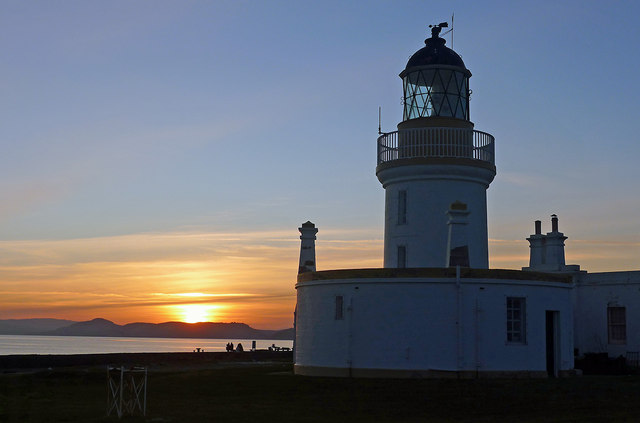 Chanonry lighthouse at sunset