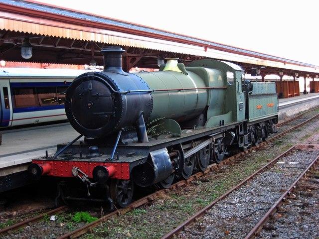 Great Western Railway 2-8-0 steam locomotive no. 2885 at Birmingham Moor Street Station
