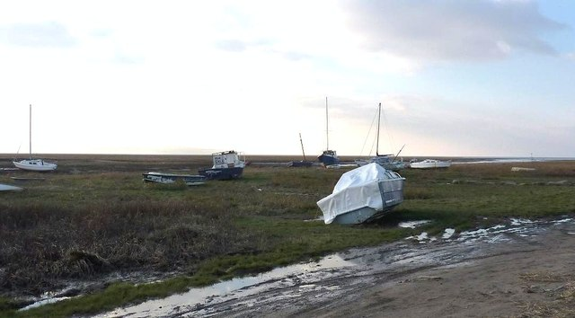 Boats on the mud