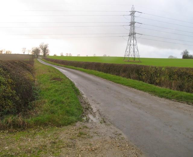 Marefield Lane towards Lowesby