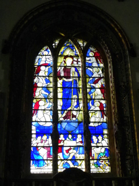 Stained glass window, St Giles Church
