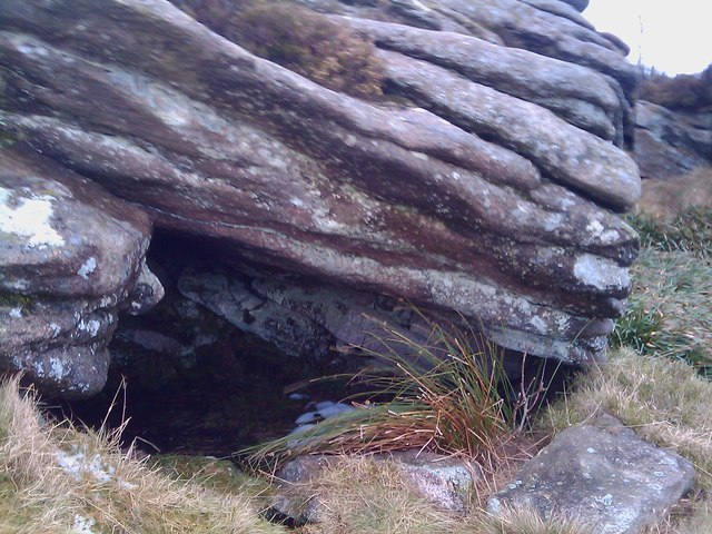Cave near summit of Craigshannoch