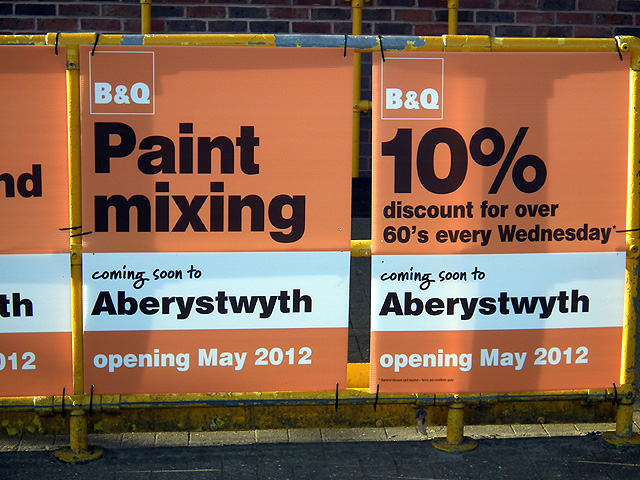 B&Q taking over Aberystwyth Focus premises in May 2012