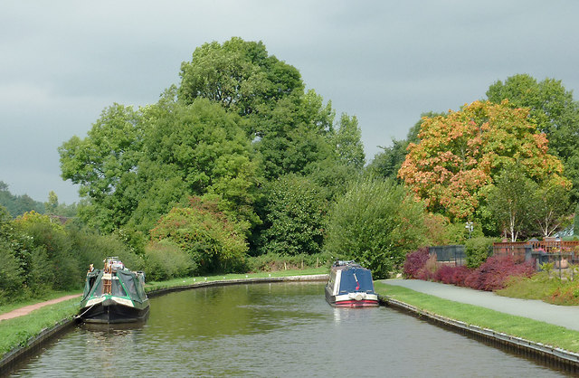 Trent and Mersey Canal near Meaford, Staffordshire