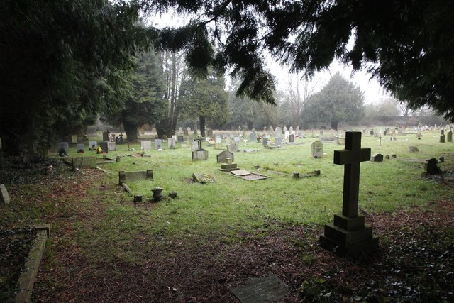 Across the old cemetery