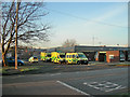 SJ6288 : Ambulances waiting for the Shout by Mike Lyne