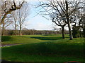 SJ4873 : The greens at Helsby Golf Club by Eirian Evans