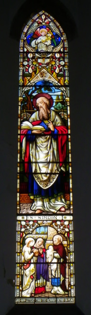 Stained glass window, The Church  of Sts Peter and Paul