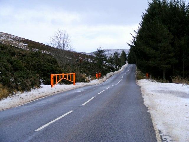 Snow Gates on the A939
