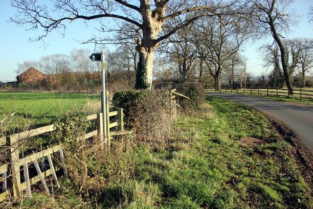 Stile near Leahall Farm