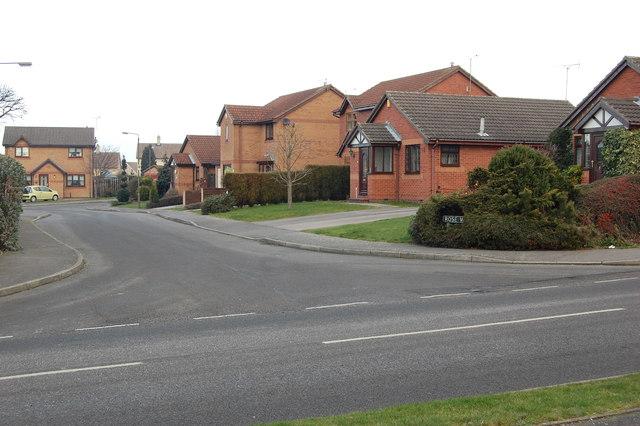 Junction Rose Way & Westthorpe Road