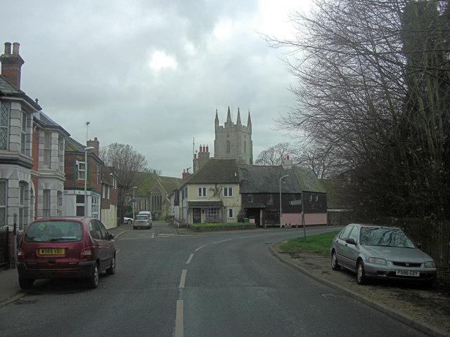 Cul-de-sac leads to All Saints Church