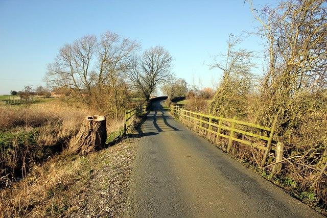 Lea Lane near Leahall Farm