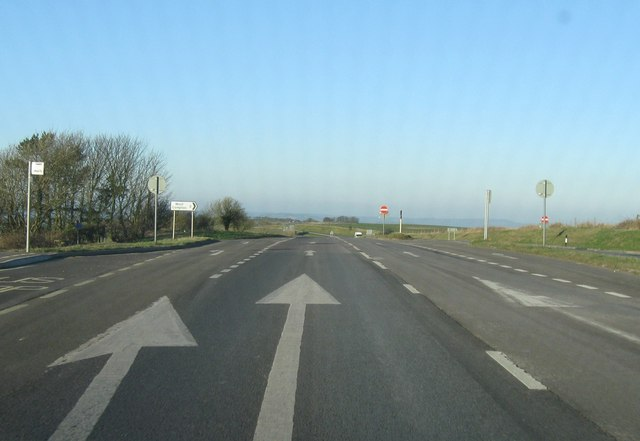 Turning for West Compton on A35