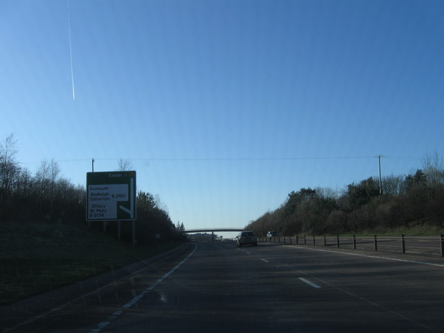 Turning for Ottery St Mary, A30