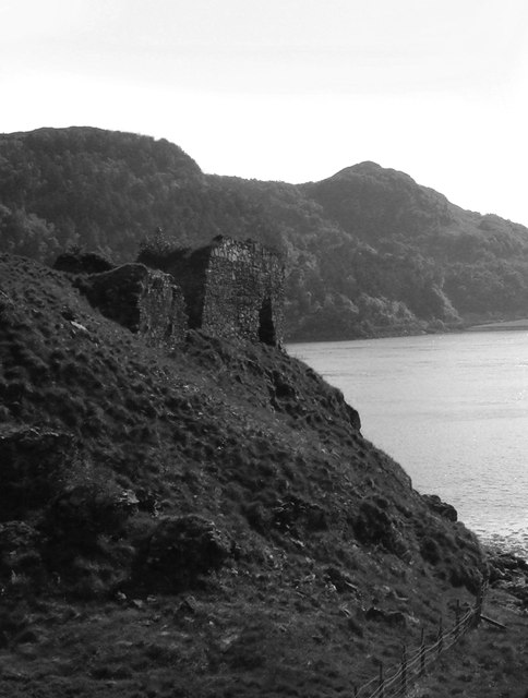 Strome Castle from the old ferry road