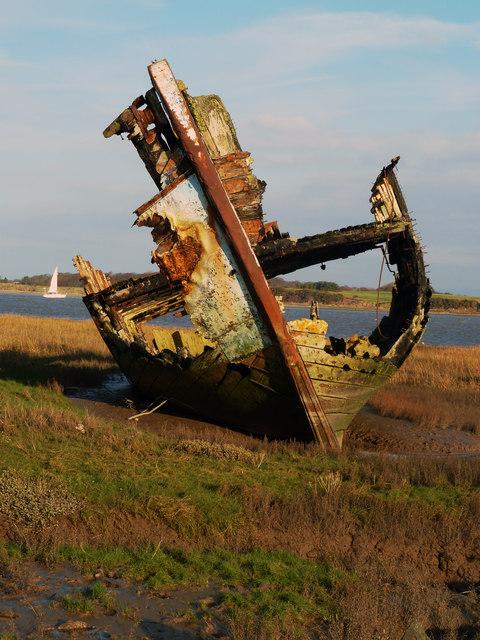 Wooden Trawler wreck, Fleetwood Marsh