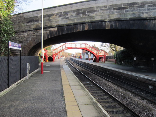 The A642, Aberford Road goes over Garforth Station